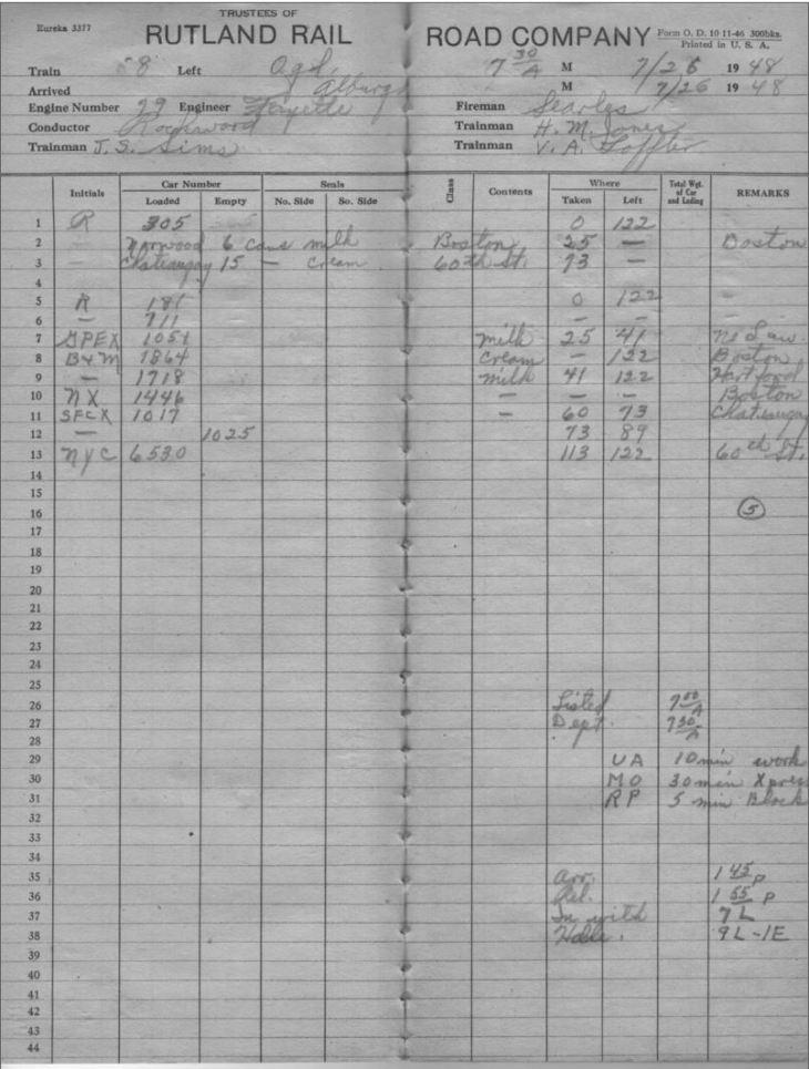 O&LC Train 8 7-26-1948