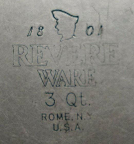 Revere Ware Rome Stamp
